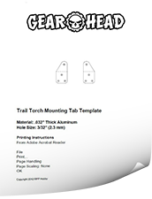 Trail Torch Mounting Tabs Template