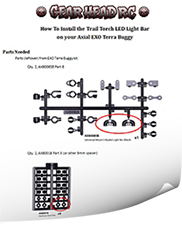 How To Install Trail Torch LED Light Bar on Axial EXO
